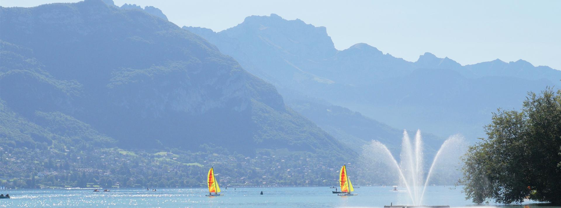 Lac d'Annecy en été